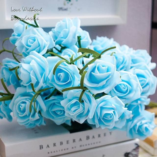 Never Fades For Love Simulated Rose Decorative Plastic