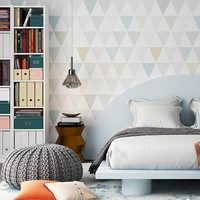 Modern Geometric Diamond Wallpaper For Kids Room Decor Nordic Bedroom Study Living Room TV Background Non-woven Wall Paper Rolls