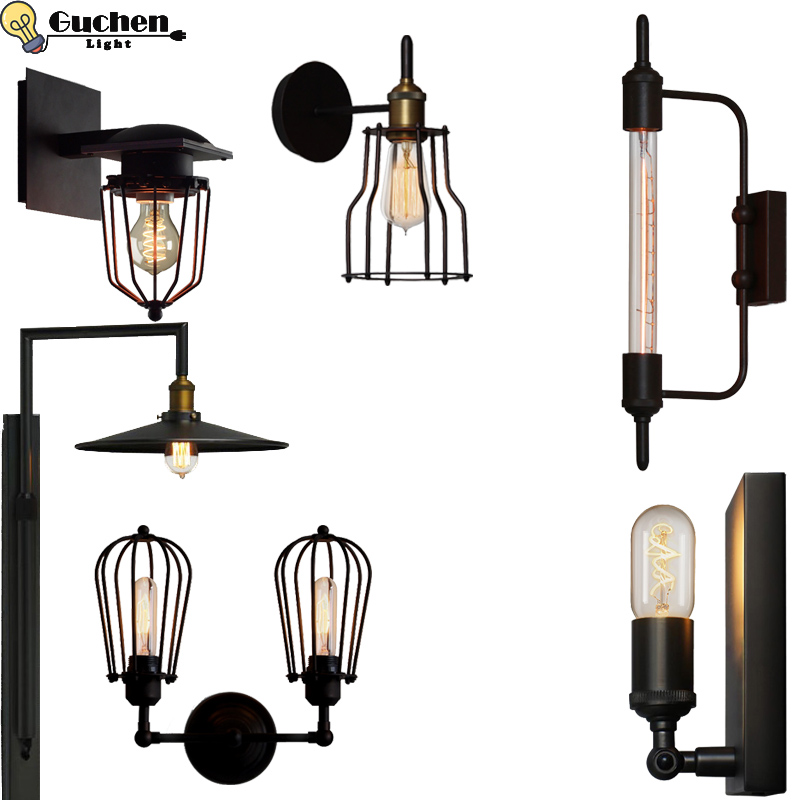 Loft retro wall lamp creative Edison wall light dining room restaurant aisle corridor pub cafe wall lamp bar vintage wall sconce american rural retro wall lamp nordic industrial loft sconce creative restaurant bar aisle bedside lamp outdoor wall light e27