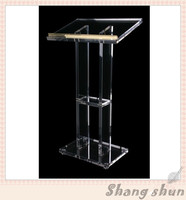 Acrylic Desktop Lectern Acrylic Lectern Stand Acrylic Podium Pulpit Lectern For Church Modern Design Acrylic Lectern