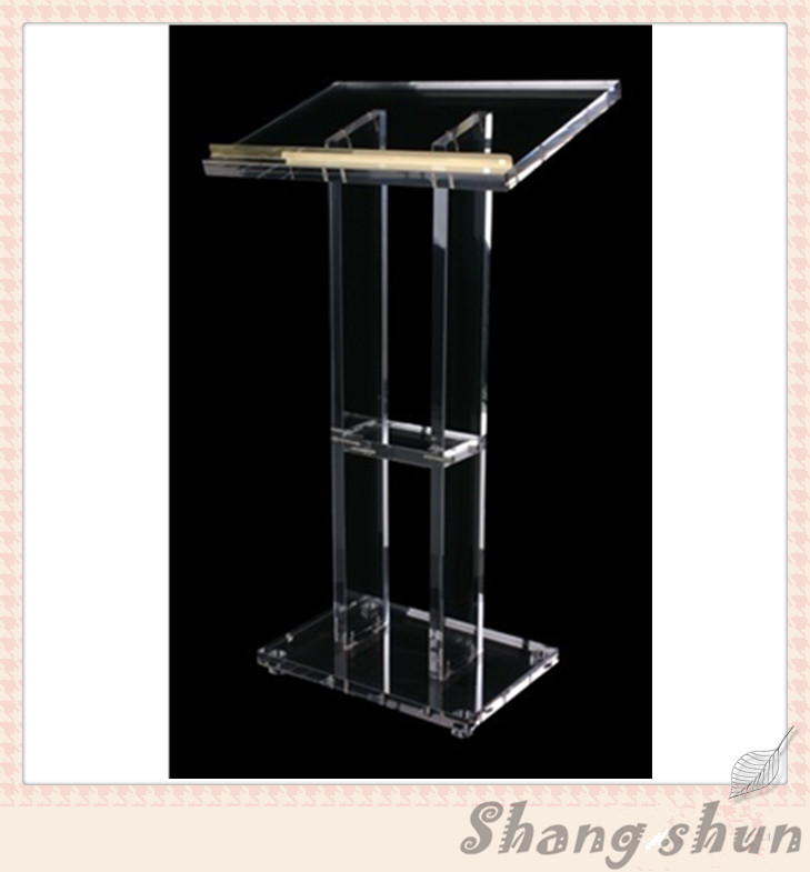 Acrylic Desktop Lectern Acrylic Lectern Stand / Acrylic Podium Pulpit Lectern For Church Modern Design Acrylic Lectern