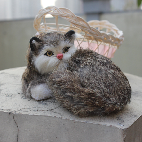 Miniature Novelty Gifts Real Simulation Lifelike Cat Cheap Price Fur