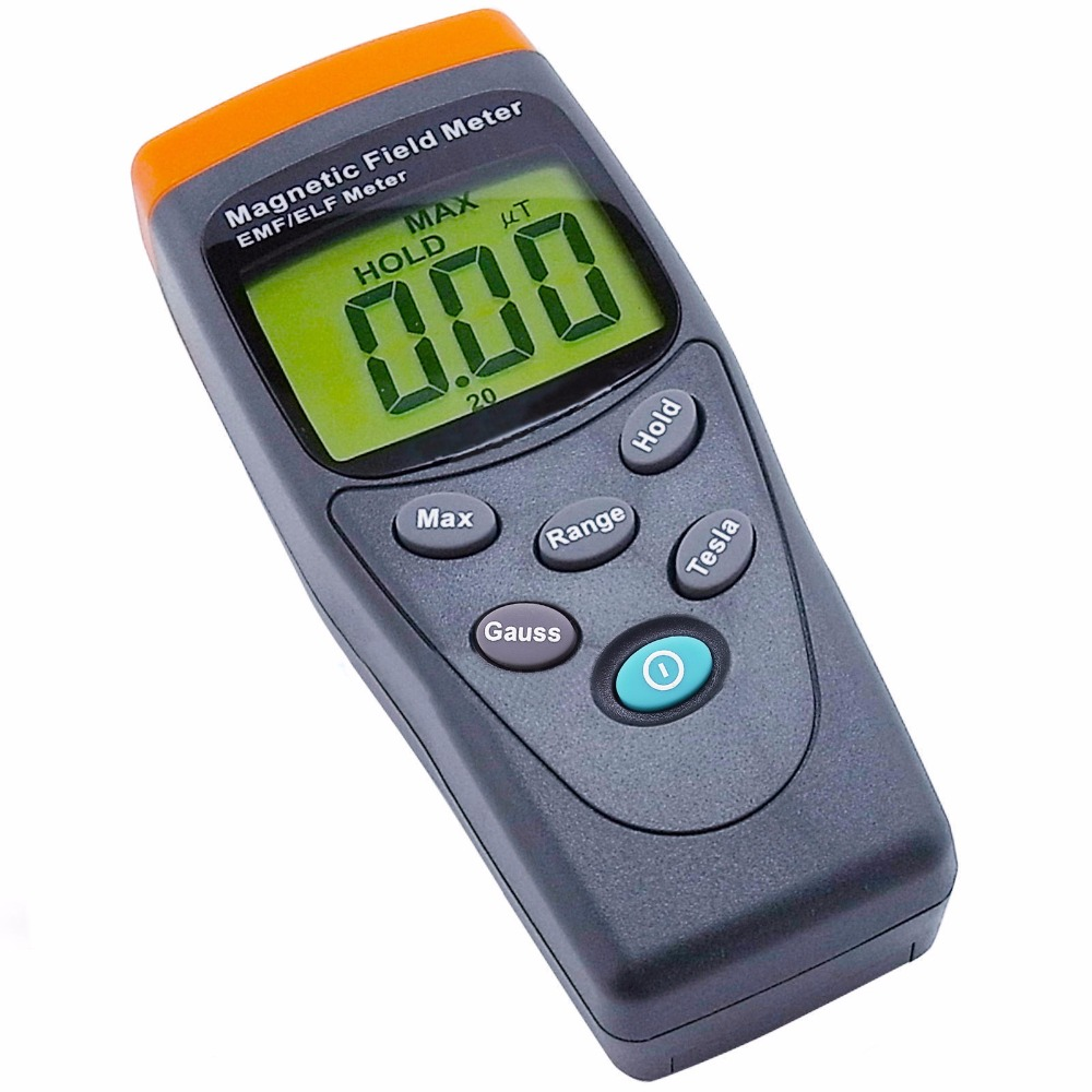 Portable Digital EMF / ELF Single Axis Gauss Meter Gaussmeter Detector Electromagnetic Field mG 30-300Hz Made in Taiwan digital indoor air quality carbon dioxide meter temperature rh humidity twa stel display 99 points made in taiwan co2 monitor