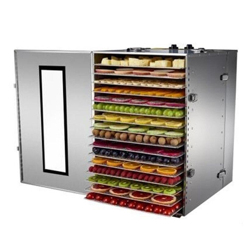 16 Слои коммерческих Сухофрукты машины 220 В Нержавеющаясталь обезвоживания фруктов и овощей Автомат для сушки продуктов
