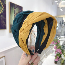 Korean Boutique Hairband Cloth Twist Weaving Headband Women Girls Hair Head Hoop Bands Accessories For Hair Scrunchy Hairbands стоимость