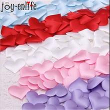 JOY ENLIFE 50pcs lots Heart Fabric 2cm Wedding Party Confetti Table Decoration Birthday Party Valentine s