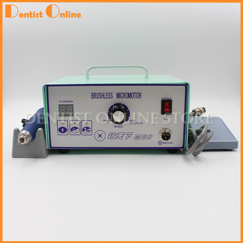 70 000 RPM Non Carbon Brushless laboratory Dental Micromotor Polishing lab handpiece stone metal jewelry carving