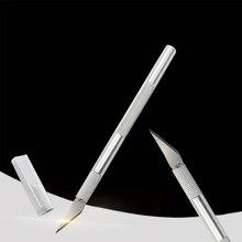 1 шт. гравировальная ручка крафт нож из древесной бумаги резак с защитная Кепка искусство резьба инструмент для ремонта телефона ноутбука