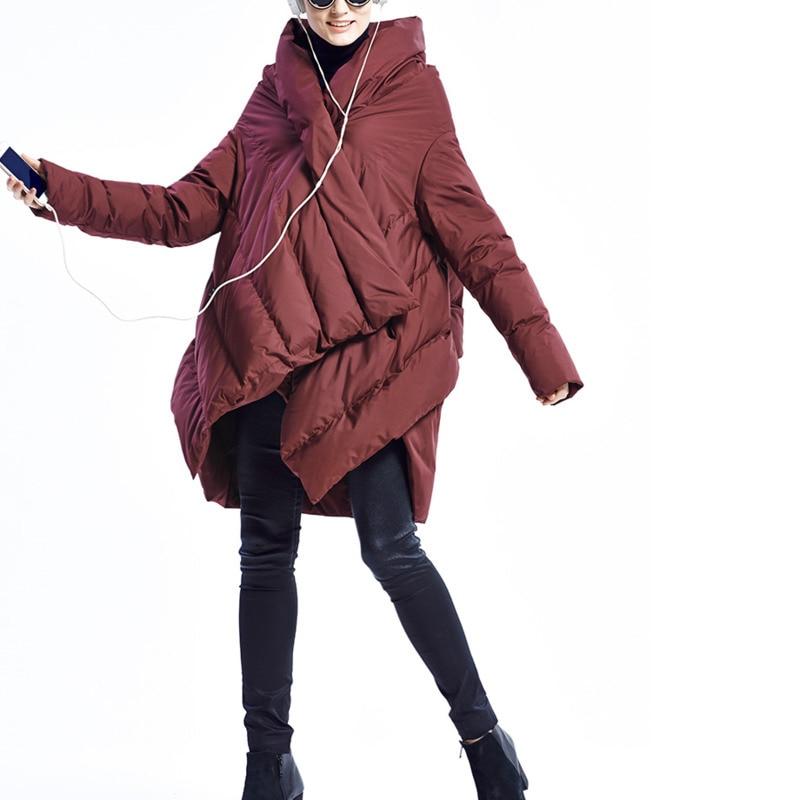 Modèle Le Vestes Chaud 2018 ewq Ac014 Nouveau Bas Vers Majeur Black Hiver Mode wine Vêtements Irrégulier Gamme Au De Coton Red Garder Manteau Conception Haut Décontracté PxPZUz