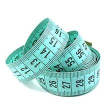 Рукоятка для шитья 150 см/60 дюймов, измерительная рулетка, Сантиметр, измерительная лента для шитья, мягкая, случайный цвет