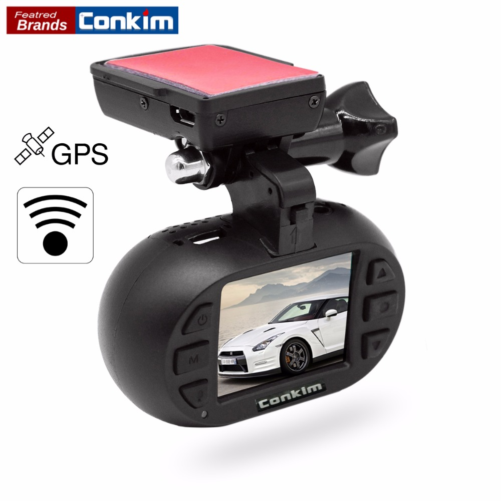 Conkim Novatek 96655 DVR Dash Cam Camera WIFI GPS Auto Registrar 1080P Full HD Video Recorder 24H Parking Guard Mini 0903 Nanoq junsun wifi car dvr camera novatek 96655 dash cam video recorder full hd 1080p for ford mondeo general model 2015 dvrs recorder