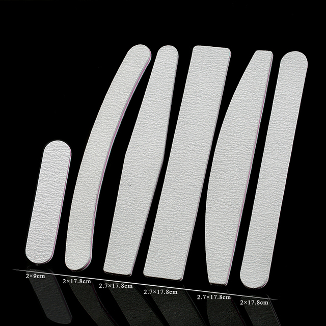 25-50Pcs/Lot Nail File 100/180 Professional durable Nail Files Sanding Buffer Block Pedicure Manicure Polish Beauty Tools 3