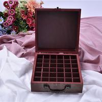 36 Slots Essential Oil Bottle Storage Box Wooden Aromatherapy Bottles Case Holder Aromatherapy Bottles Storage Organizer