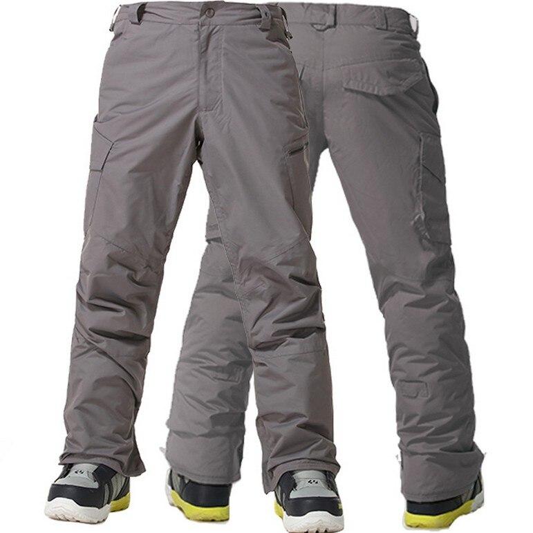 2016 men's dark gray ski pants male blue snowboarding pants green - Sportswear and Accessories