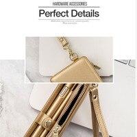 Multifunction Wallet Mobile Phone Cover Case Shoulder Crossbody Bag PU Zipper For Card Shopping SGA998