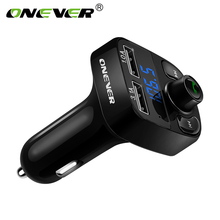 Car Charger Hands-free with Dual USB 4.1A with Bluetooth MP3 Player FM Transmitter Modulator TF Slot With LED Display