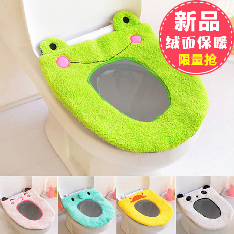 heated toilet seat cover. toilet seat cover mat bathroom warmer washable cloth pad cartoon plush · the heated