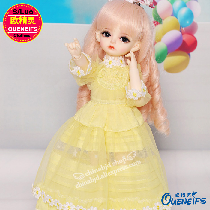 OUENEIFS free shipping An elegant temperament lace dress and long sleeved dress 1/6 bjd sd doll clothes,no doll or wig YF6-151