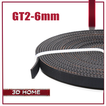 Hot sale! 2meter GT2-6mm Open Timing Belt Width 6mm GT2 Belt for 3D Printer