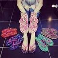 Женская обувь Тапочки Лето Классический Горный Хрусталь моды женщин для утех Тапочки моды вьетнамки sh020105