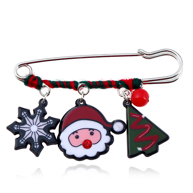 Jewelry Sets & More Lovely 2018 Christmas Brooch Pin Santa Snowman Badges Jewelery Clothing Corsage Bell Elk Sled Dog Cartoon Fun Winding Brooches Beautiful In Colour