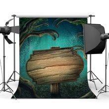 خلفيات للتصوير الفوتوغرافي هالوين الرعب ليلة غامض الغابات القديمة شجرة الخشب العنكبوت ويب تنكر صور خلفية الصورة