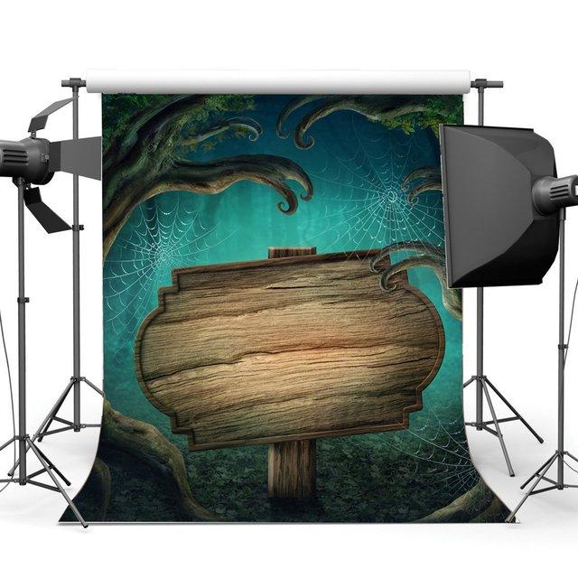 Photographie décors Halloween horreur nuit mystérieuse forêt vieux arbre bois toile daraignée mascarade Portraits Photo arrière plan