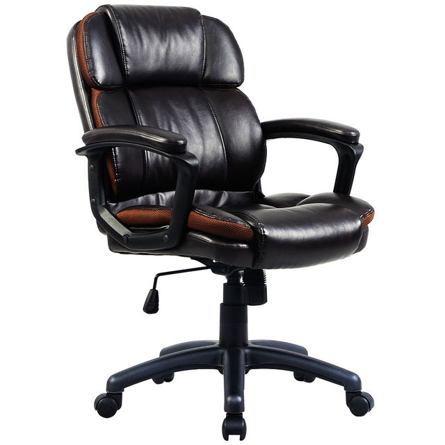 Giantex Ergonomic PU Leather Mid Back Swivel Gaming Chair Modern Executive  Computer Desk Task Office