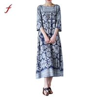 Women S Dress 2017 Designs Dress Oversized Dresses A Line Vestidos Floral Print Crewneck Casual