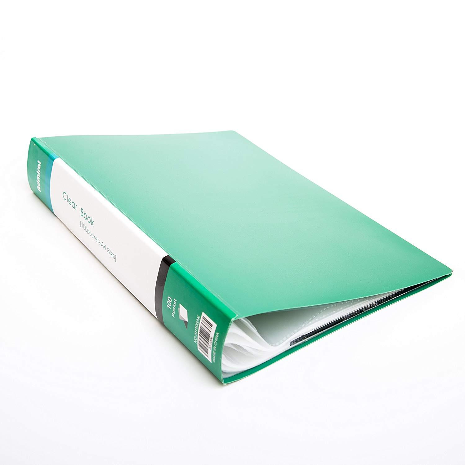 100-Pocket Presentor A4 200- Page Capacity For A4 Paper,Drawing, Art Work, Letters,  Report Sheets Organizer