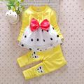 Spring female baby suit baby clothes cotton clothing 0-1-2 years old Female 3-6 months New