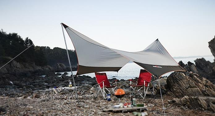 400x350cm large tent tarp sun shelter for 5 to 8 people