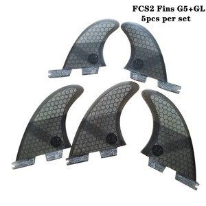 Image 3 - Fcsii G5 + Gl Surfplank Blauw/Zwart/Rood/Groen Kleur Honeycomb Vinnen Tri Quad Fin Set fcs 2 Fin Hot Verkoop Fcs Ii Fin Quilhas