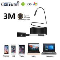 HD 720P 8mm 3M 8LED WiFi Endoscope Waterproof Video Camera For Android IOS Phone PC Wireless