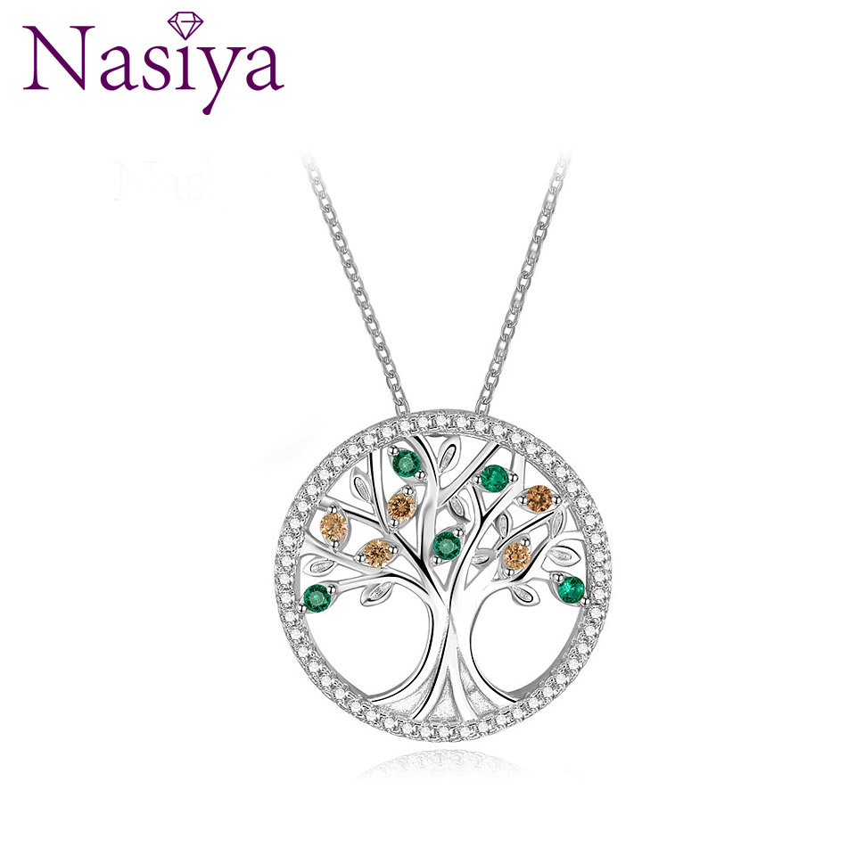 New Design 2018 Wedding Necklaces Pendants For Women 925 Silver Jewelry Necklace With Colorful Gemstone Hot Sale Christmas GiftNew Design 2018 Wedding Necklaces Pendants For Women 925 Silver Jewelry Necklace With Colorful Gemstone Hot Sale Christmas Gift