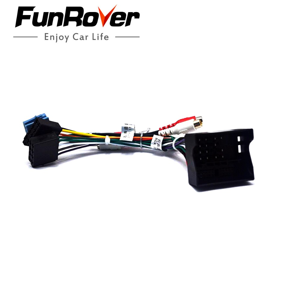 Funrover Car Iso Radio Plug For Volkswagen Golf Passat Skoda Seat R Wiring Harness Lead Loom Wire Cable Adapter To In Cables Adapters Sockets