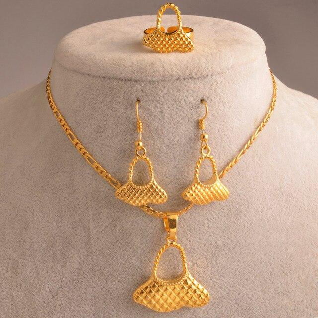 c925cd2aea30 PNG joyas Color oro colgante collares pendientes establece para las mujeres  Papua Nueva Guinea shabby