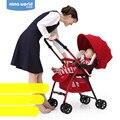 Dibby Carrinho de Bebê Carrinhos de Alta Paisagem Pode Ser Sentado E Deitado Two-Way Portátil À Prova de Choque Dobrável Carrinho De Criança