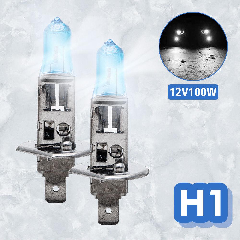2 pcs H1 100W 12V WHITE XENON HID HALOGEN HEADLIGHT BULB FOR LOW BEAM