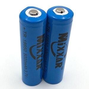 Image 5 - 2ピースは強い光懐中電灯充電式リチウムバッテリー3.7ボルト18650 5000 mahリチウムバッテリー