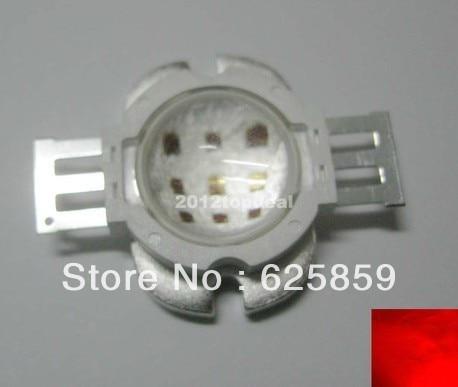 Круглый 10 Вт Красный светодиодный с 60 градусов объектив 620-625nm высокое Мощность светодиодный свет лампы для роста растений 6-7 V DC