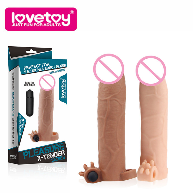 8.5 inches reusable condoms penis extender penis <font><b>ring</b></font> sleeve enlargement electric <font><b>cock</b></font> <font><b>ring</b></font> with bullet <font><b>vibrator</b></font> <font><b>sex</b></font> <font><b>toy</b></font> for man