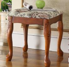 Luxury Dressing stool piano stool fashion make up stool 100 Carving wooden stool bedroom furniture Royal