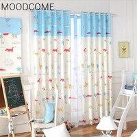 Zoo Cute Cartoon Animals Custom Curtains For Living Dining Room Bedroom Cloth Children S Room School
