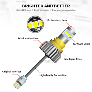Image 3 - 2x T15 LED 1156 BA15S 7440 W21W 3030 لمبة W16W Led عكس ضوء المصباح في Canbus 921 912 سيارات احتياطية بدوره مصباح إشارة مصباح