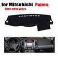 Salpicadero del coche estera cubierta para mitsubishi pajero 2007-2016 tablero de la cubierta izquierda volante a la plataforma de instrumentos del coche vade accesorios