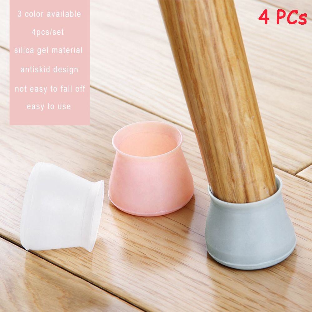 4pcs/set Universal Rubber Furniture Table Legs Pads Rubber Feet Sofa Table Chair Leg  Non-slip Protectors Mat Pad