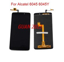 For Alcatel One Touch Idol 3 5.5 6045 OT-6045 6045K 6045Y LCD Screen Digitizer Assembly Replacement Fast Shipping Black