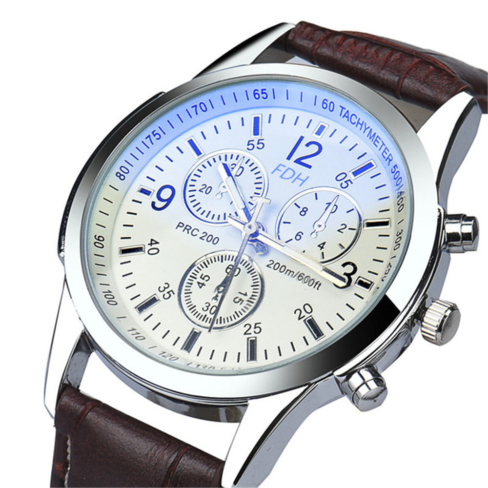 Business Men Watch Fashion Waterproof Hours Sport Clock Quartz-Watches Leather Bear Band Mens Wristwatches Relogio horse gift