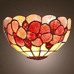 W stylu Tiffany w stylu Vintage kinkiet światła LED z 1 światła do salonu oświetlenie sypialni kinkiety ścienne darmowa wysyłka|wall lamp light|led wall lampwall lamp -